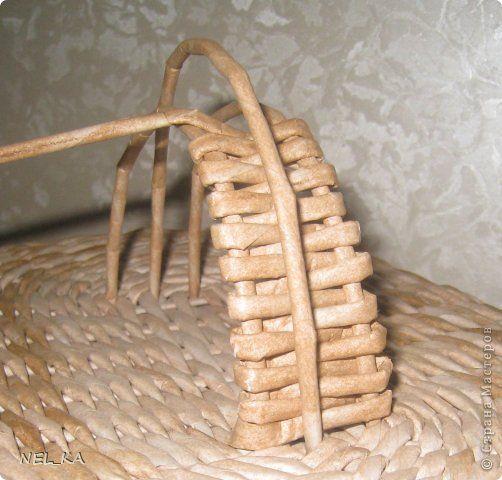 Поделка изделие Плетение Набор для кухни Пшеничный аромат Бумага газетная Трубочки бумажные фото 9
