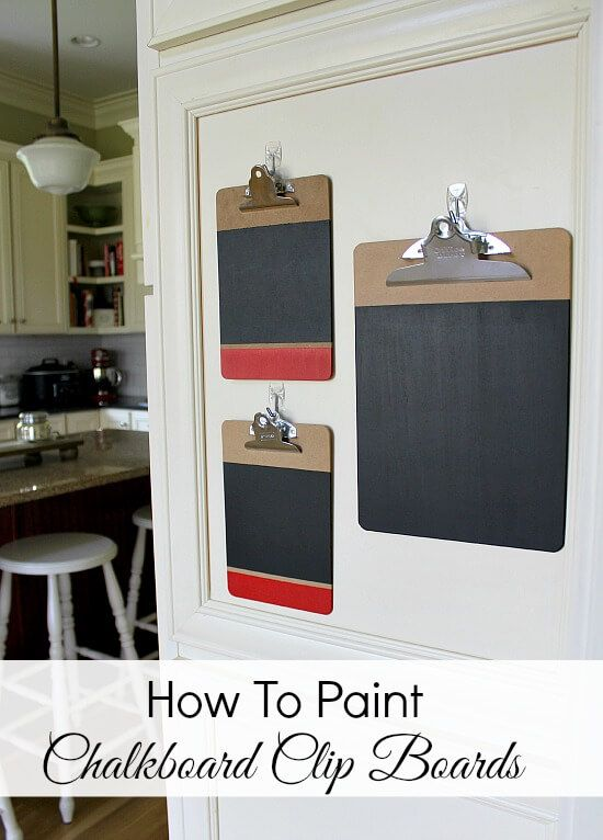 Get organized simply and easily with these DIY Chalkboard Clipboards. Fun and functional. We have step by step instructions for you.