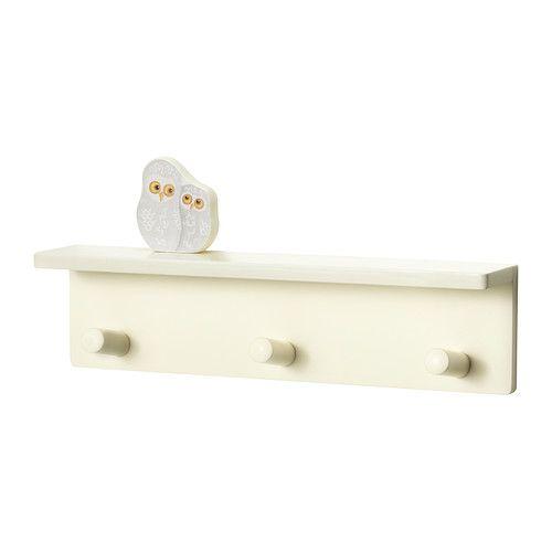 7€ KLÄDE Patère 3 boutons IKEA Placer à la bonne hauteur pour permettre à l'enfant de participer au rangement.