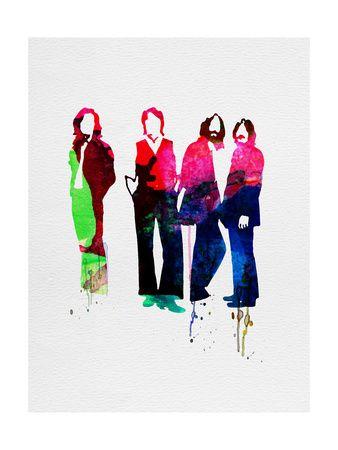 Beatles Watercolor Art Print at AllPosters.com