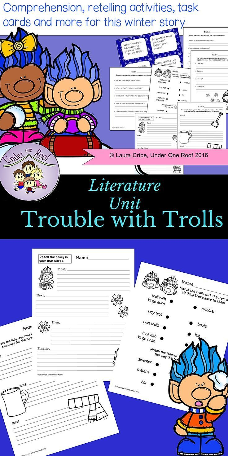 Trouble With Trolls Literacy Activities Tpt Digital For Distance Learning Literacy Activities Literature Unit Writing Activities