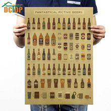 Encyklopedia DCTOP Rocznika Piwo Naklejki Ścienne Dla Kuchni Bar Dekoracji Retro Papier Pakowy Plakat Malowidła Ścienne(China (Mainland))