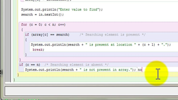 Java program for linear search using array