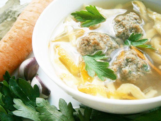 Суп куриными тефтелями рецепт фото
