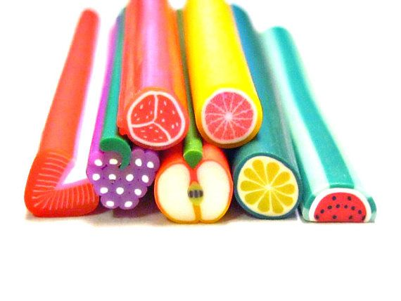 Fun Fruit Polymer Clay Canes