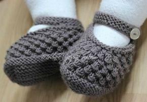 Вязаные спицами туфельки для малышек *Ежевика* - Модное вязание