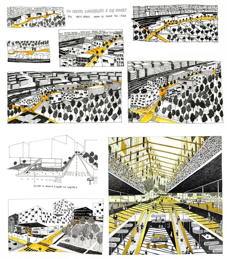 Création d'illustrations pour le projet du futur quartier des Batignolles avec les éditeurs Double Elephant/ A.Chemetoff/ CEGECE - Diane Berg