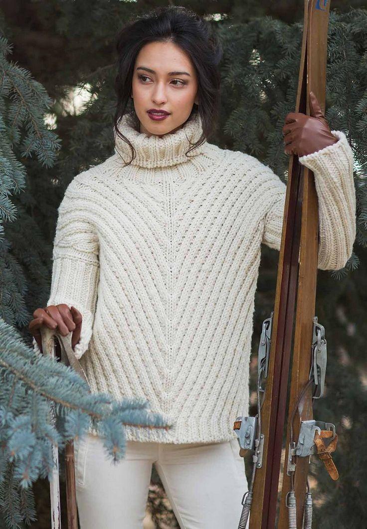 пирог простых свитера из толстой пряжи спицами фото следующей неделе