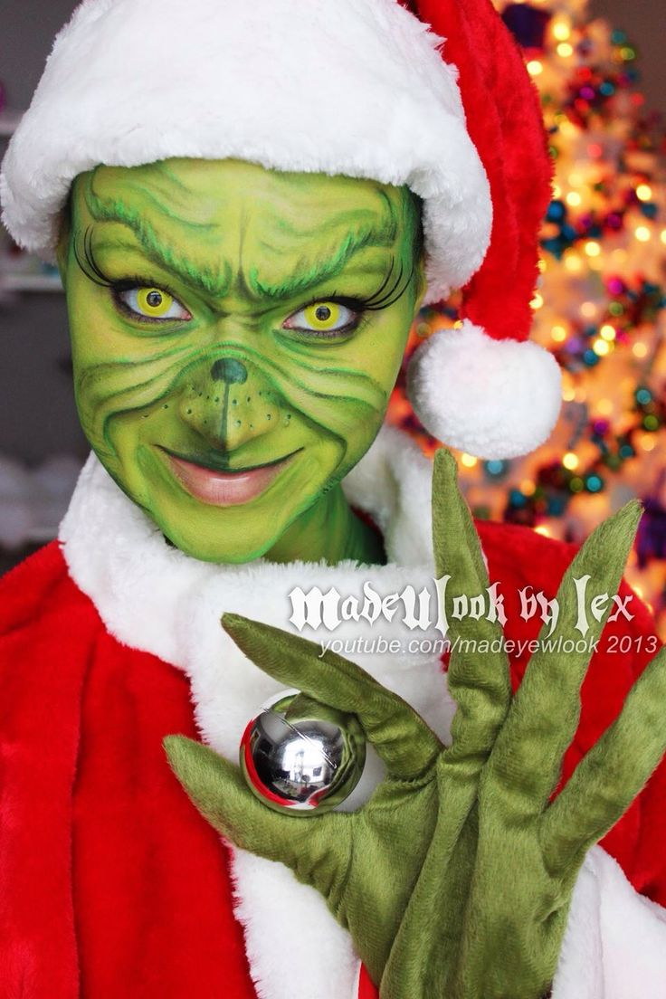 How to make your own grinch costume - The Grinch Makeup Tutorial