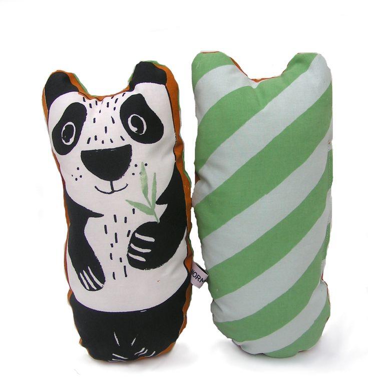 Silk screened by hand Panda Fred mini Danish design #panda #babygift #nurserydecor #babyshowergift