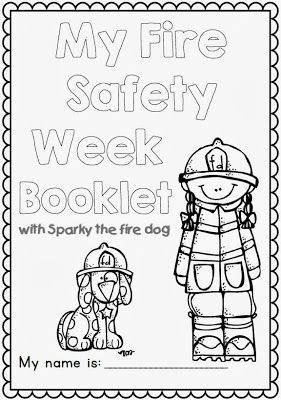 Fire Safety Week with Sparky the Fire Dog - Worksheets for Grades 1-2