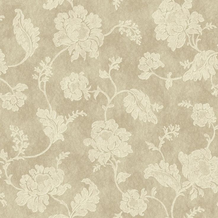 """Impressions Jacobean Trail 33' x 20.5"""" Floral and Botanical 3D Embossed Wallpaper"""