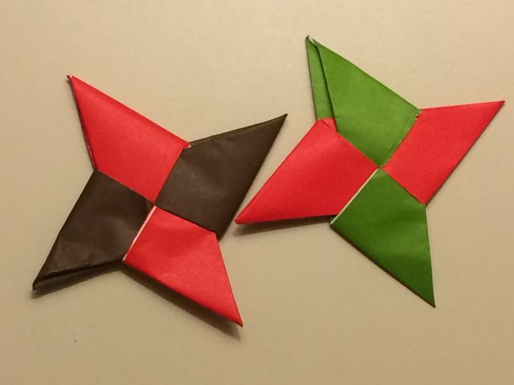 how to make paper ninja stars easy step by step