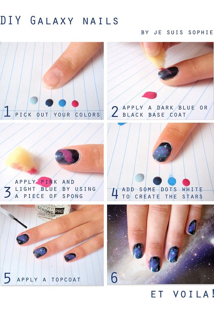Best 25 galaxy nails tutorial ideas on pinterest diy nails my diy galaxy nails httpjesuissophiecareformespot2012 prinsesfo Gallery