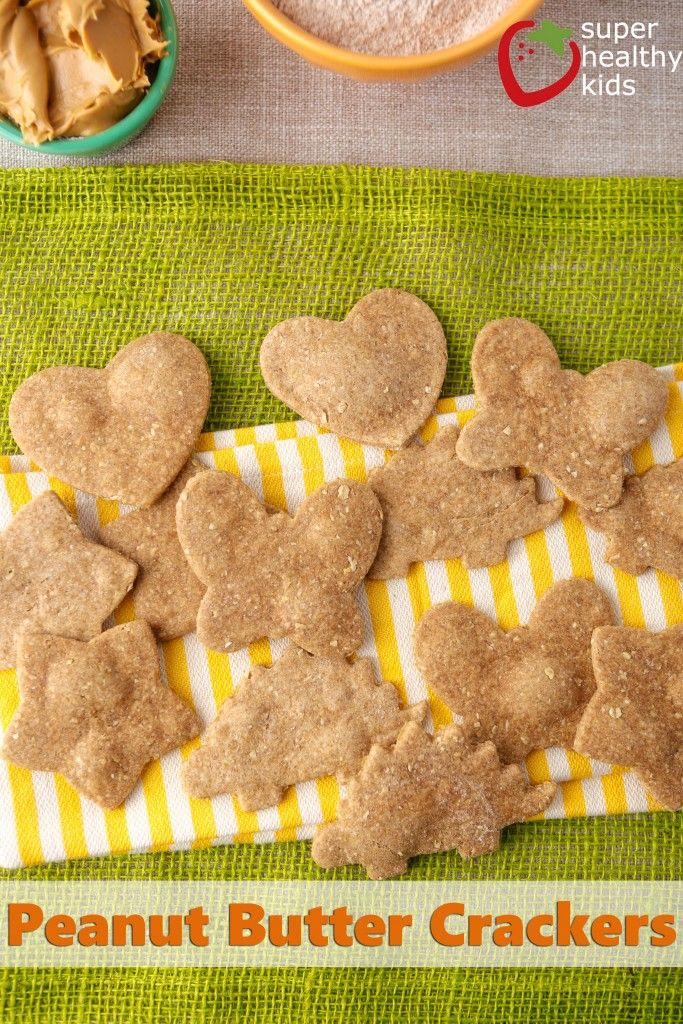 Whole Wheat and Oatmeal Peanut Butter Crackers. These are quick to make and my kids approved of them. I did have to add a bit more water than the recipe called for.