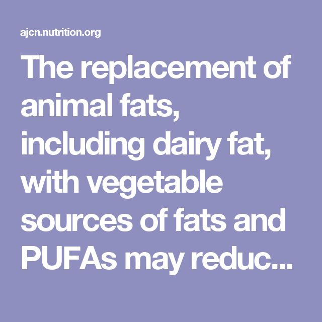 The replacement of animal fats, including dairy fat, with vegetable sources of fats and PUFAs may reduce risk of CVD. Whether the food matrix may modify the effect of dairy fat on health outcomes warrants further investigation.