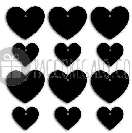 "Tag lavagna ""cuore"" _ due formati assortiti (12pz)-37"