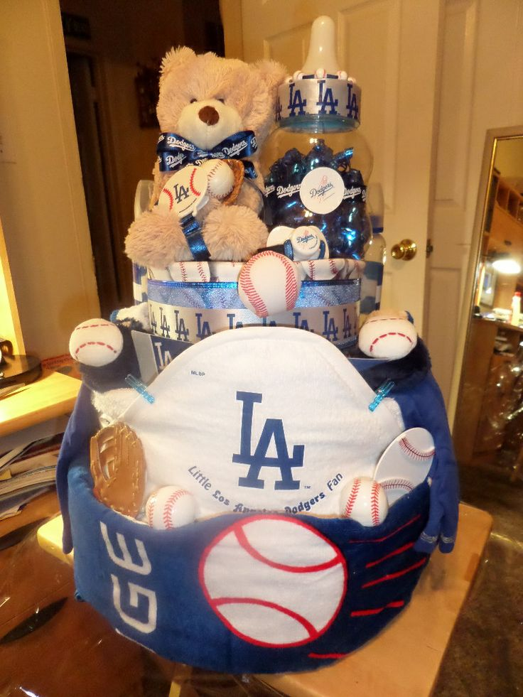 La Dodgers Diaper Cake My Creations In 2019 Baby