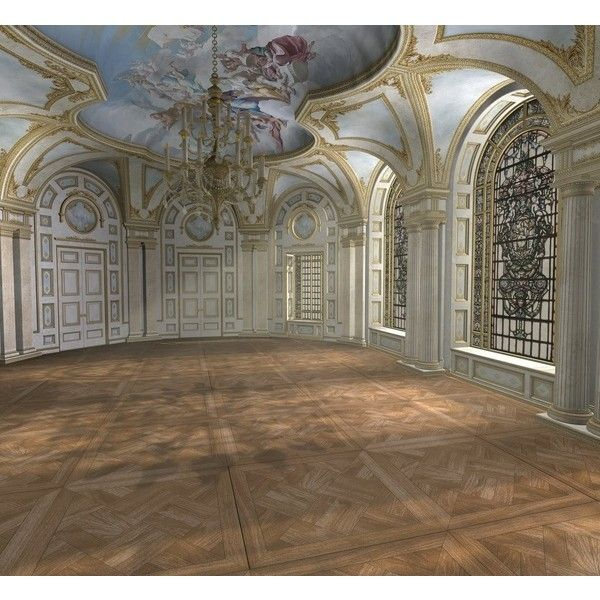 Empty Room: Baroque Ballroom Daytime Found On Polyvore Featuring