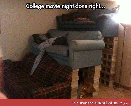 College movie nights done right