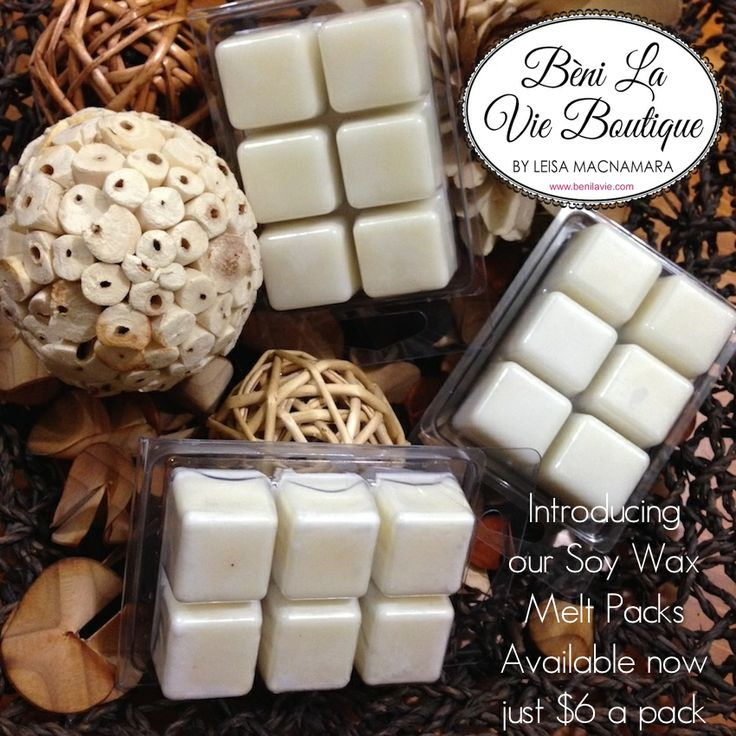 Soy Wax Melt Pack just $6 See our Fragrance List for available fragrances