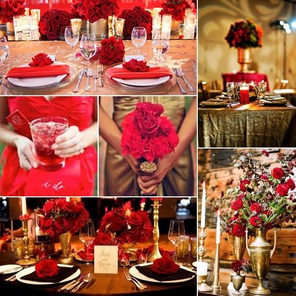 """Red and Gold wedding inspiration board from our """"Red and Gold Wedding Inspiration"""" blog"""