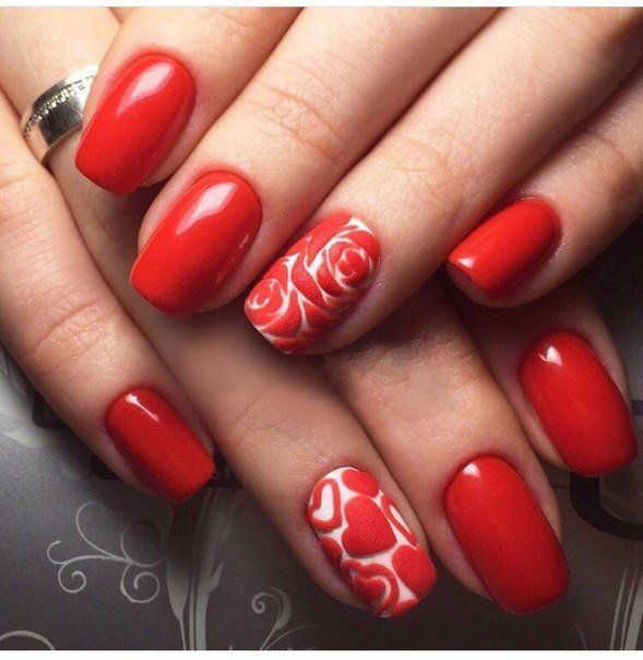9 Best Heart Nail Art Designs With Images: 25+ Best Ideas About Red Nail Designs On Pinterest