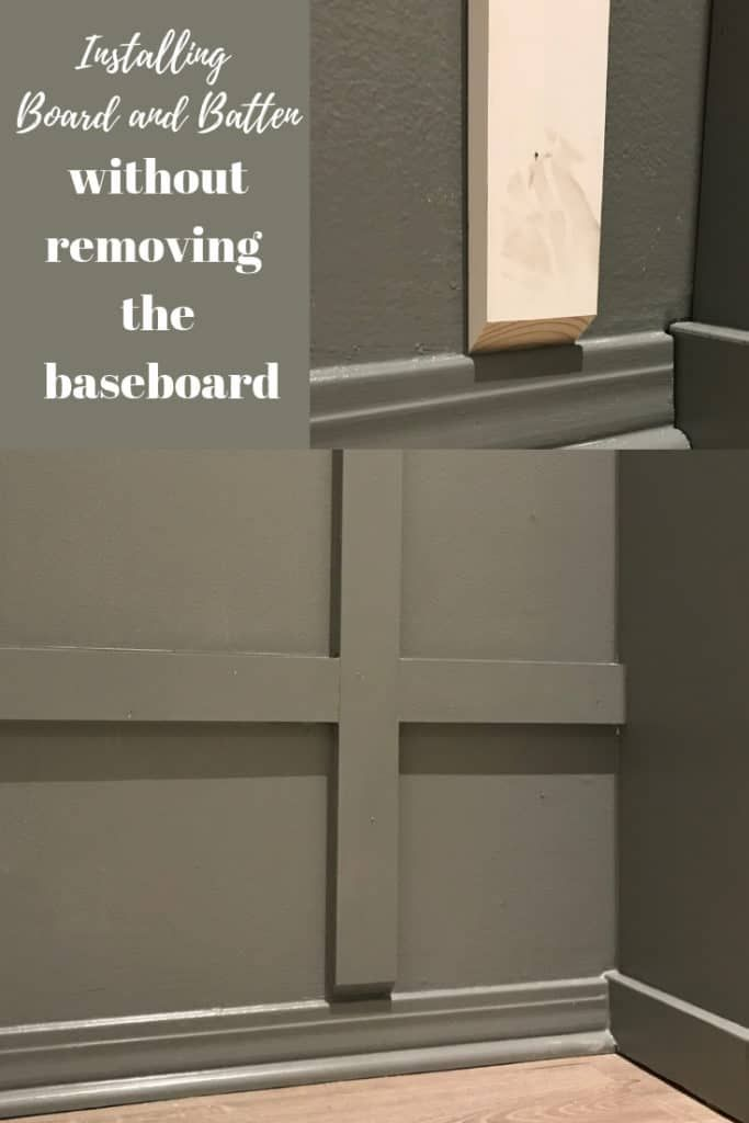 Installing Board And Batten Without Removing The Baseboards Baseboards Board And Batten Removing Baseboards