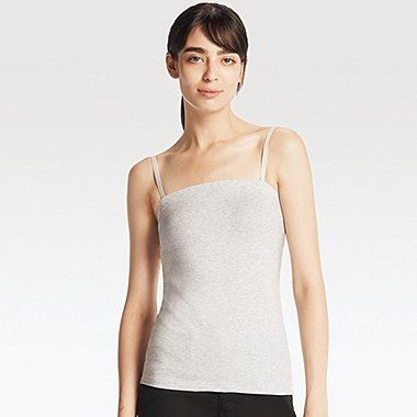 WOMEN Supima® COTTON BRA TUBE TOP, GRAY, medium