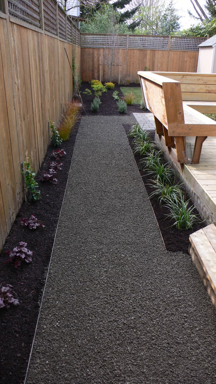 Landscape Timbers Portland Or : Gravel path with steel edge by landscape east west portland oregon