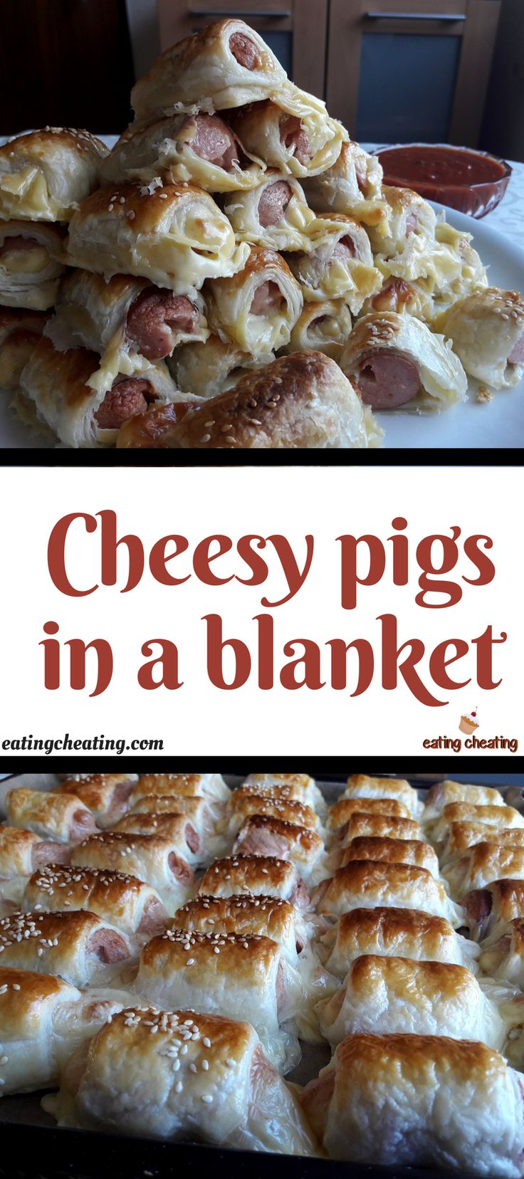 For this cheat meal recipe I prepared cute pigs in a blanket with melting toast cheese. This recipe is so easy to make. Those pigs in a blanket are so cute and so delicious to dip them into some nice fresh sauce.