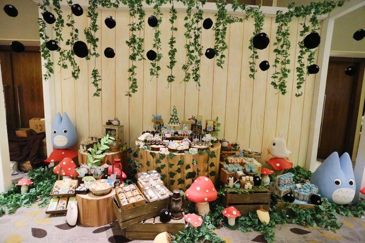 Chiro's 1st Birthday Party With Totoro Theme; Dreamflavours Celebration Jakarta, PartyPlanner, Birthday Cake, Sweet Corner Decoration