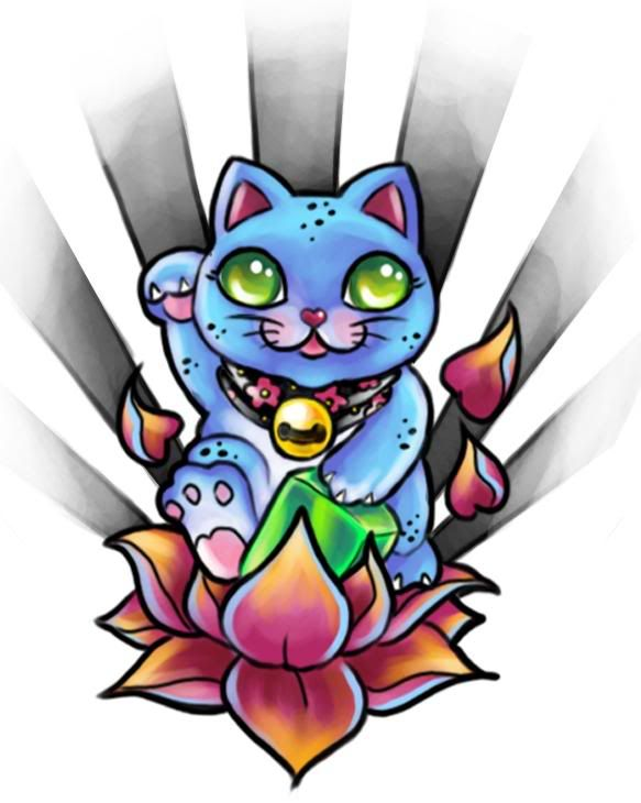 17 best ideas about lucky cat tattoo on pinterest maneki neko lucky symbols and meaning of cat. Black Bedroom Furniture Sets. Home Design Ideas