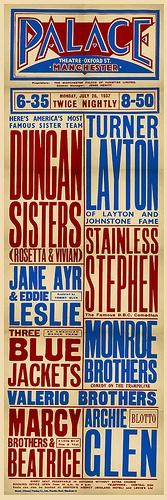 1920s Vaudeville poster - Dec 05, 2009 | Merrills