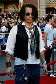 Johnny Depp Aviator Sunglasses