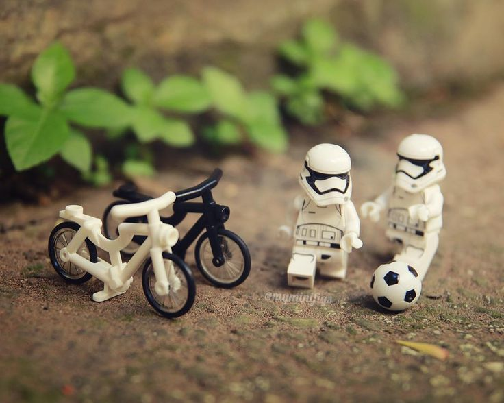 Once upon time there are two stormies playing soccer when they found two cool bikes laying beside the road #1of3 #stormtrooper