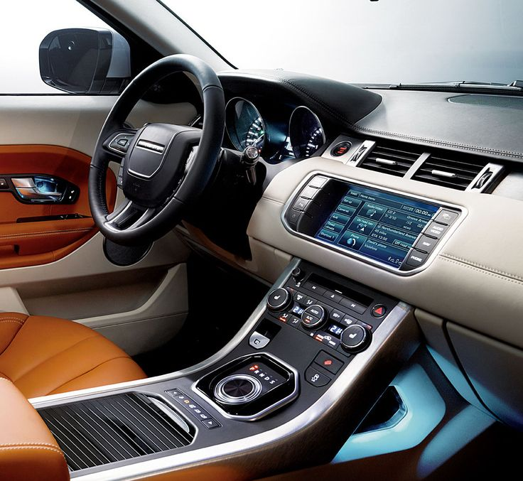 range rover evoque Interior. Saw this on Kelly Ripa one morning, and fell in love.