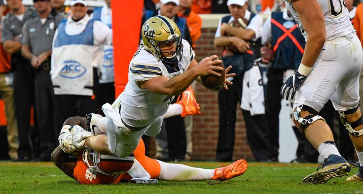 Pittsburgh Panthers quarterback Nathan Peterman (4) during the Pittsburgh Panthers at Clemson Tigers college football game in Clemson, South Carolina November 12, 2016.  Harrison McClary/Athlon Sports