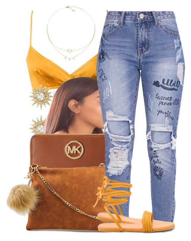 """""""•honey• Bryson tiller•"""" by trinsowavy ❤ liked on Polyvore featuring Anne Sisteron, Michael Kors, Violet Ray and Tkees"""