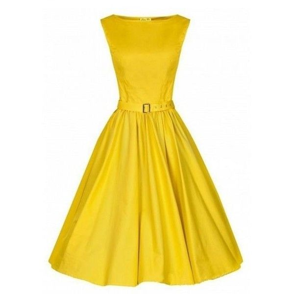Plain Delightful Slash Neck Skater Dress (72 ILS) ❤ liked on Polyvore featuring dresses, going out dresses, day party dresses, yellow party dress, yellow skater dress and pattern dress