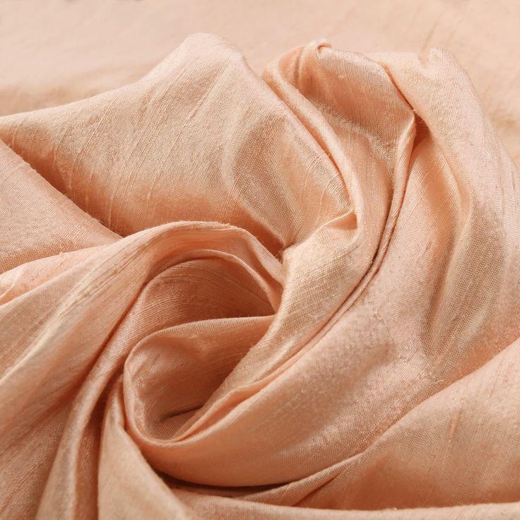 Truffle Pink Textured Dupioni Silk Curtain
