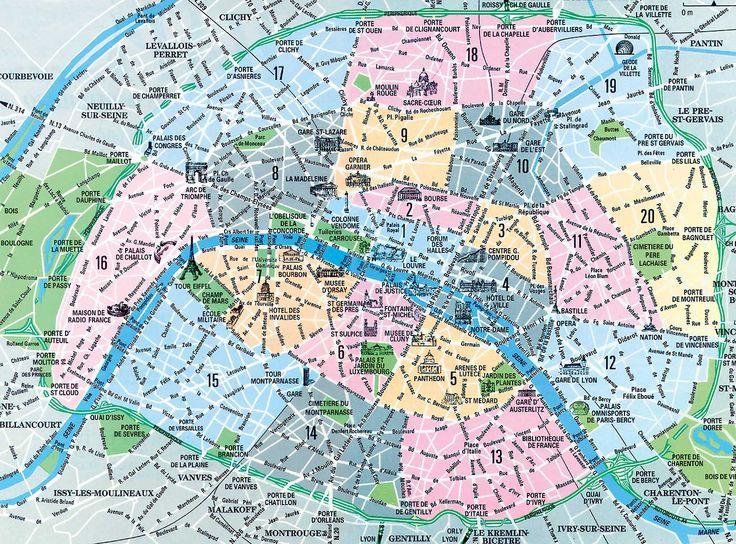 """Arrondissements de Paris The city of Paris is divided into twenty arrondissements municipaux, administrative districts, more simply referred to as """"arrondissements."""""""