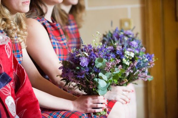 Planet Flowers / Julie Tinton Photography / Scottish Wedding / Thistle / Barley / Bridesmaid / red tartan