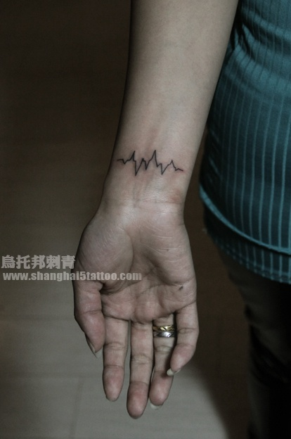 EKG tattoo I actually like this idea alot! Maybe my parents?!