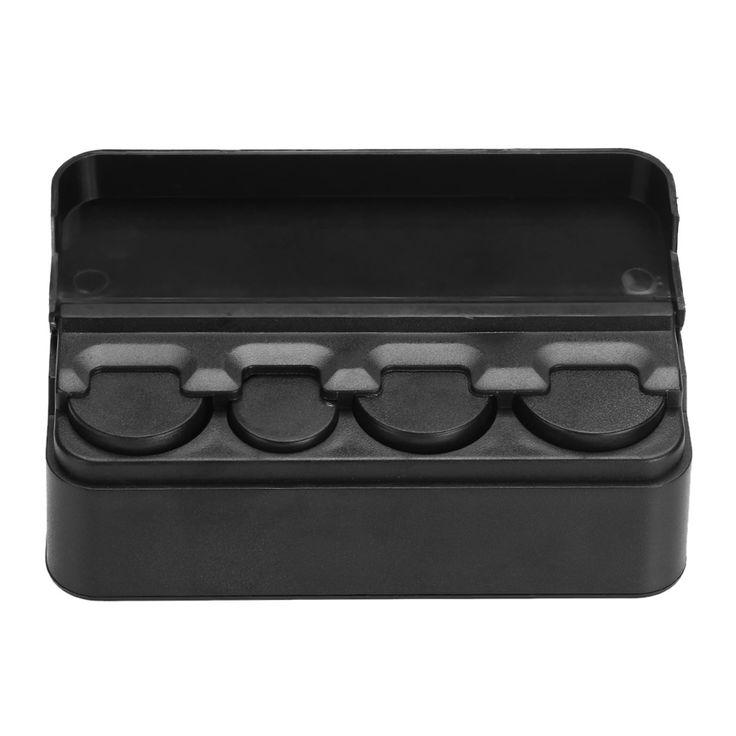 Negro Monedas Coche de Plástico Organizador Caja de Almacenamiento de Contenedores Organizador Titulares de Dinero Caja de Monedas de Dinero de la moneda; 4 Rejilla