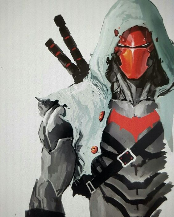 """love this art & the """"assassin's creed"""" vibe!! #redhood"""