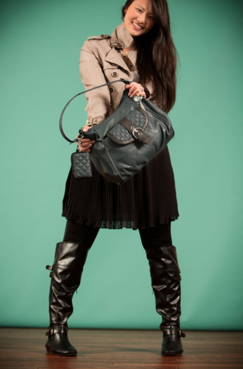 """Grace Adele """"Lily"""" hobo bag + """"Leigh"""" clutch with matching zip purselet"""