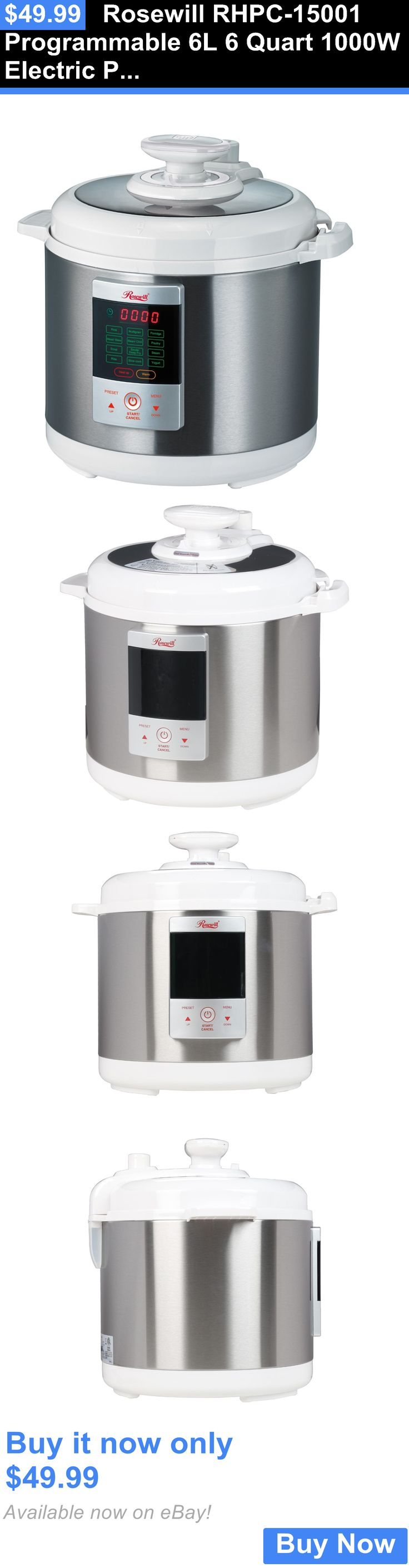 Pressure cooker bed bath beyond - Small Kitchen Appliances Rosewill Rhpc 15001 Programmable 6l 6 Quart 1000w Electric Pressure Cooker