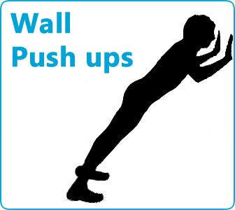 Wall push ups and how do you do them correctly, these types of exercises are perfect for pregnant women or overweight people who can't do a normal push up.