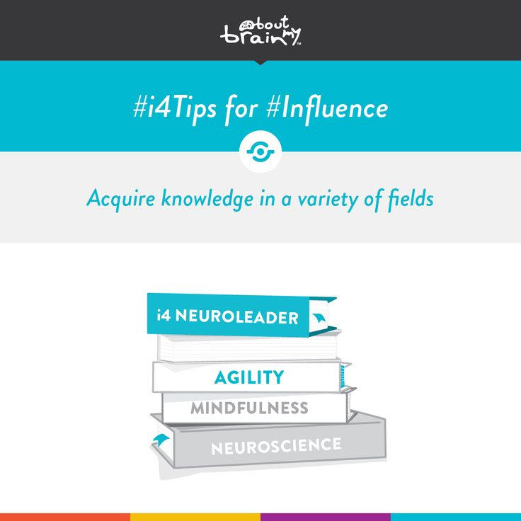 #i4tips for developing #Influence = acquire knowledge in a variety of fields. #i4Model http://www.aboutmybrain.com/i4tips